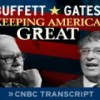 Warren Buffett and Bill Gates: Keeping America Great